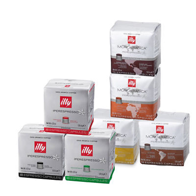 ILLY   432 Capsules Coffee for Iperespresso Machine 24 NEW Packs Assorted