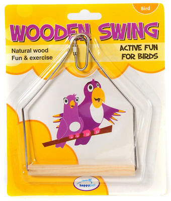 Happypet Wooden Bird Cage Swing Budgie Canary Finch Cage Accessory 21050