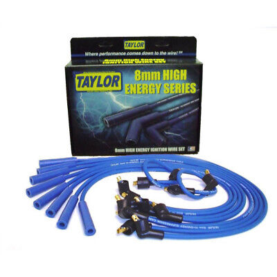 Taylor Spark Plug Wire Set 64652; High Energy 8mm Blue Straight for Ford V8