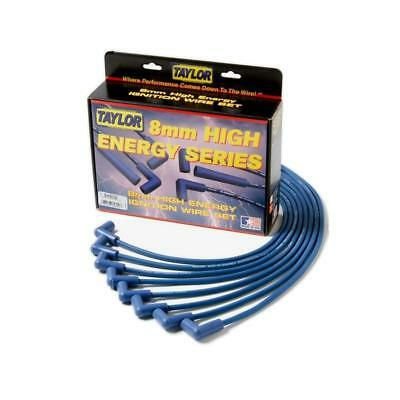 Taylor Spark Plug Wire Set 74644; Spiro Pro 8mm Blue Straight for Chevy V8