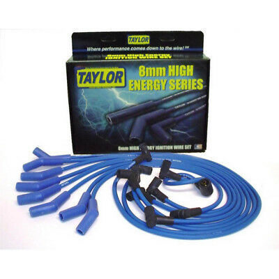 Taylor Spark Plug Wire Set 64604; High Energy 8mm Blue 135° for Chevy V8