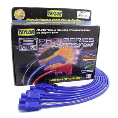 Taylor Spark Plug Wire Set 76646; Spiro Pro 8mm Blue 135° Coil Pack for Chevy V8