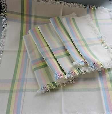 Vintage French style napkins set of 6