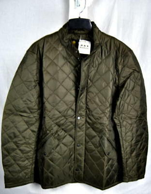 Barbour FLYWEIGHT CHELSEA Quilted Jacket 40g Olive AUTHENTIC Mens Large NEW Tags