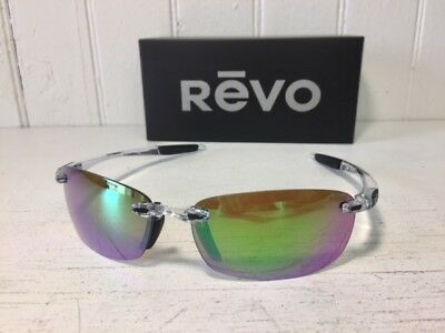 REVO RE4060 09 GN DESCEND E Crystal w/ Green Water POLARIZED Lenses Sunglasses