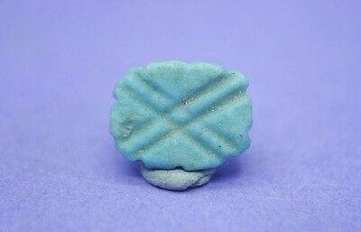Ancient Egyptian late period decorated faience amulet 664-332 BC