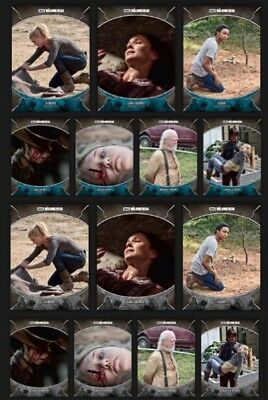 Tragedies-Wave 2-Blue+Gray Set-14 Card-Topps Walking Dead Card Trader Digital