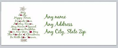 Personalized Return Address Labels Christmas Buy 3 get 1 free (ac 270)