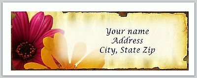 30 Personalized Return Address Labels Flowers Buy 3 get 1 free (c 794)