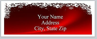 30 Personalized  Christmas Return Address Labels Buy 3 get 1 free (bo 128)