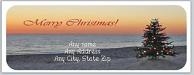 30 Personalized Address Labels Christmas Buy 3 get 1 free (ac 297)