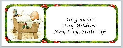 30 Personalized Address Labels Christmas Buy 3 get 1 free (ac 109)