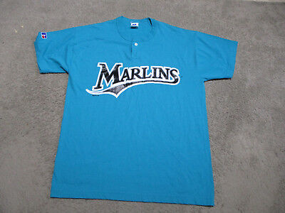 wholesale dealer 4cc4b 52cd7 VINTAGE FLORIDA MARLINS Baseball Jersey Adult Large Teal Cotton MLB Mens 90s