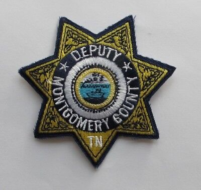 Deputy Montgomery County Tn Police Embroidery Appliqué Patch---002