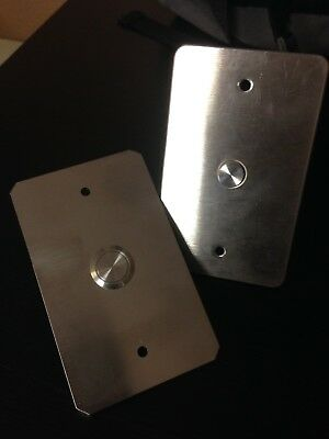 Lot of steel plate call buttons from Harding and ECA