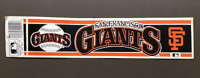 SAN FRANCISCO GIANTS MLB Baseball Sticker Wincraft Sports 1987 Vintage NEW RARE