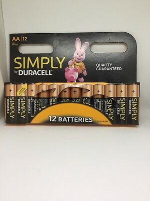 12 x Duracell AA Long Lasting Power Alkaline Quality Guaranteed Pack LR6 MN1500