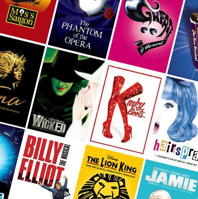 BEST UK MUSICAL THEATRE POSTERS - A4 A3 A2 HD Prints - Grease, Wicked, Tina