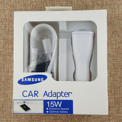OEM Fast Charging Car adapter+5ft cable For Samsung Galaxy S7 S6 Edge+ Note 4 5