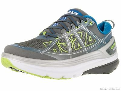 Hoka One One Constant 2 Mens Running Shoes - Grey/Directorie Blue - RRP 120 GBP