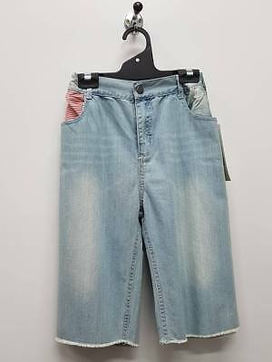 Kids Jean Shorts Boys Casual Party Denim Cotton Short Size 8 12 TV846 Blue