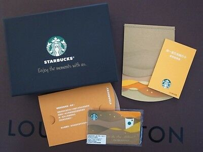 """Complete set of a New Gift Box 2014 Starbucks Taiwan """"One Million- LED"""" Card"""