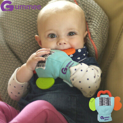 New LARGE Gummee Glove PLUS- 6+ months -Turquoise Teething Ring Silicone Baby