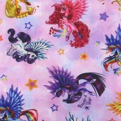 Fabric My Little Pony Friendship Is Magic Polycotton Blend 50 X 145Cm/20*58 In