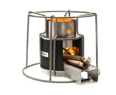 Camping Wood Burning Stove Small Heater Cooking Outside Outdoor Beach Portable F