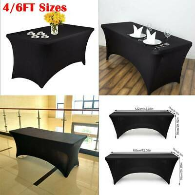 Stretch Tablecloths Wedding Tablecloth Rectangle Event Fitted Table Cloth Black