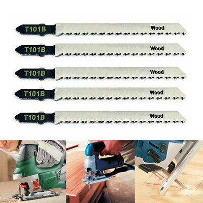 5pcs T101B Jigsaw Blades Wood Cutting Softwood & Hardwood Tool For 100mm