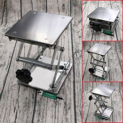 6'' Hi-Q Stainless Steel Lab Stand Table Scissor Lift laboratory Jiffy Jack