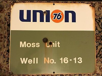 porcelain Union 76 lease sign!! Must LOOK!