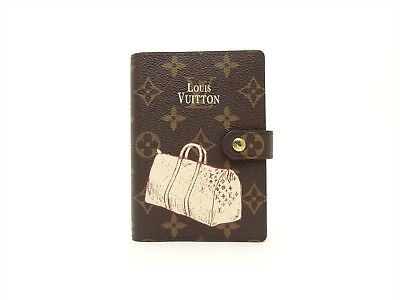 Louis Vuitton Authentic Monogram Keepall Agenda fonctionnel PM Diary cover LV