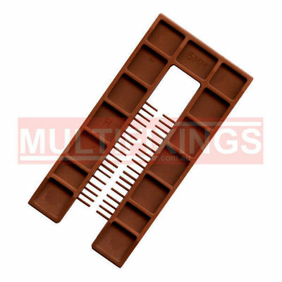 200pcs - 5mm Brown - 50mm x 100mm Plastic Window Packers and Levelling Shims