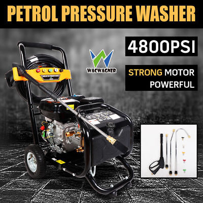 WACWAGNER 10HP 4800PSI High Pressure Washer Cleaner Petrol Water Gurney 20M Hose