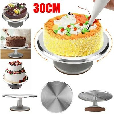 12inch ROTATING CAKE ICING DEOCRATING REVOLVING KITCHEN DISPLAY STAND TURNTABLE