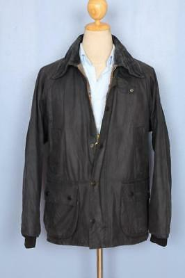 Mens BARBOUR Bedale WAXED Jacket Navy Size 40