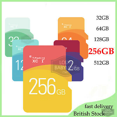 Micro SD Card 256GB Class 10 TF Flash Memory Mini SDHC SDXC -FREE ADAPTER