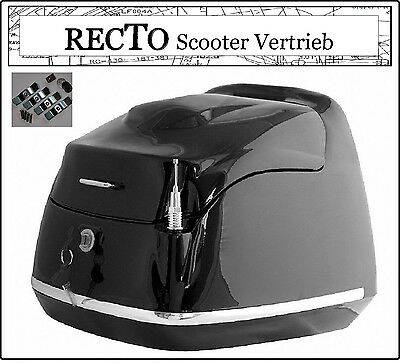 RECTO Grand Retro Classic Roller Top Case Koffer Helm Mofa Scooter 40Liter BOX