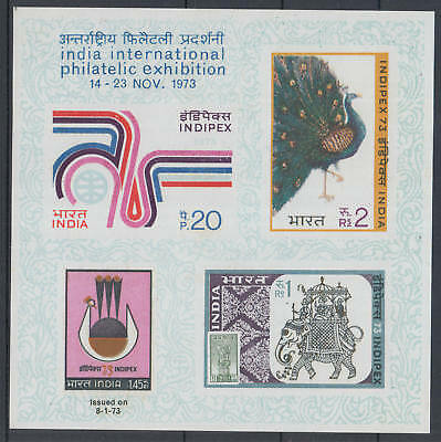 XG-K791 INDIA IND - Birds, 1973 Indipex Philatelic Exhibition Imperf. MNH Sheet