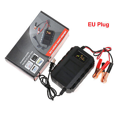 12V 20A Electronic Smart Car Lead Acid Battery Fast Charger Motor LCD Digital