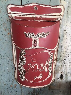 Nostalgie Briefkasten Postkasten Rot Shabby Chic Retro Postbox Post