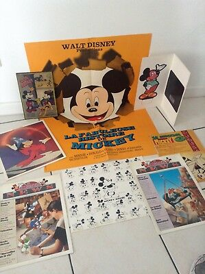 Lot d'articles divers Walt Disney Mickey affiche Ciné Mickey