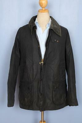 Mens BARBOUR Bedale WAXED Jacket Navy Size 48