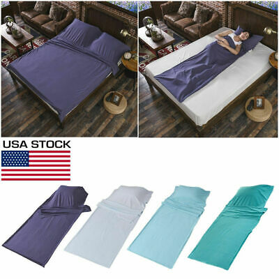 Sleeping Bag Single/Double Liner Travel Sleep Sack Sheet Hiking Camping Tent Mat