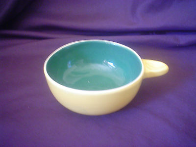 Guy Boyd Ramekin Yellow & Green Glaze Signed