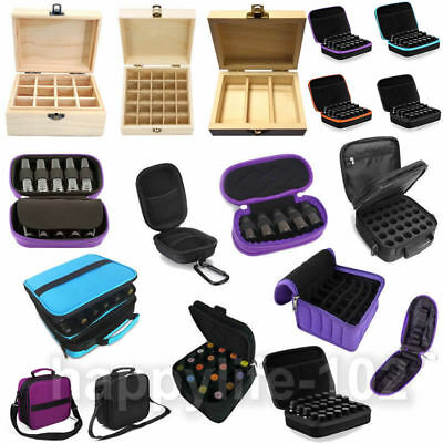 3-72 Slots Wooden Box Oil Aroma Storage Case Essential Organizer Container Bag