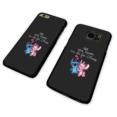 NEVER TOO OLD DISNEY BLACK PHONE CASE COVER fits iPHONE / SAMSUNG (BH)
