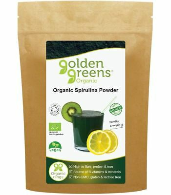 Greens Organic Organic Spirulina Powder High in Protein Fibre & Iron 100g